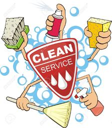 Thumb cleaning services clipart 1