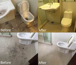 Thumb before and after washroom
